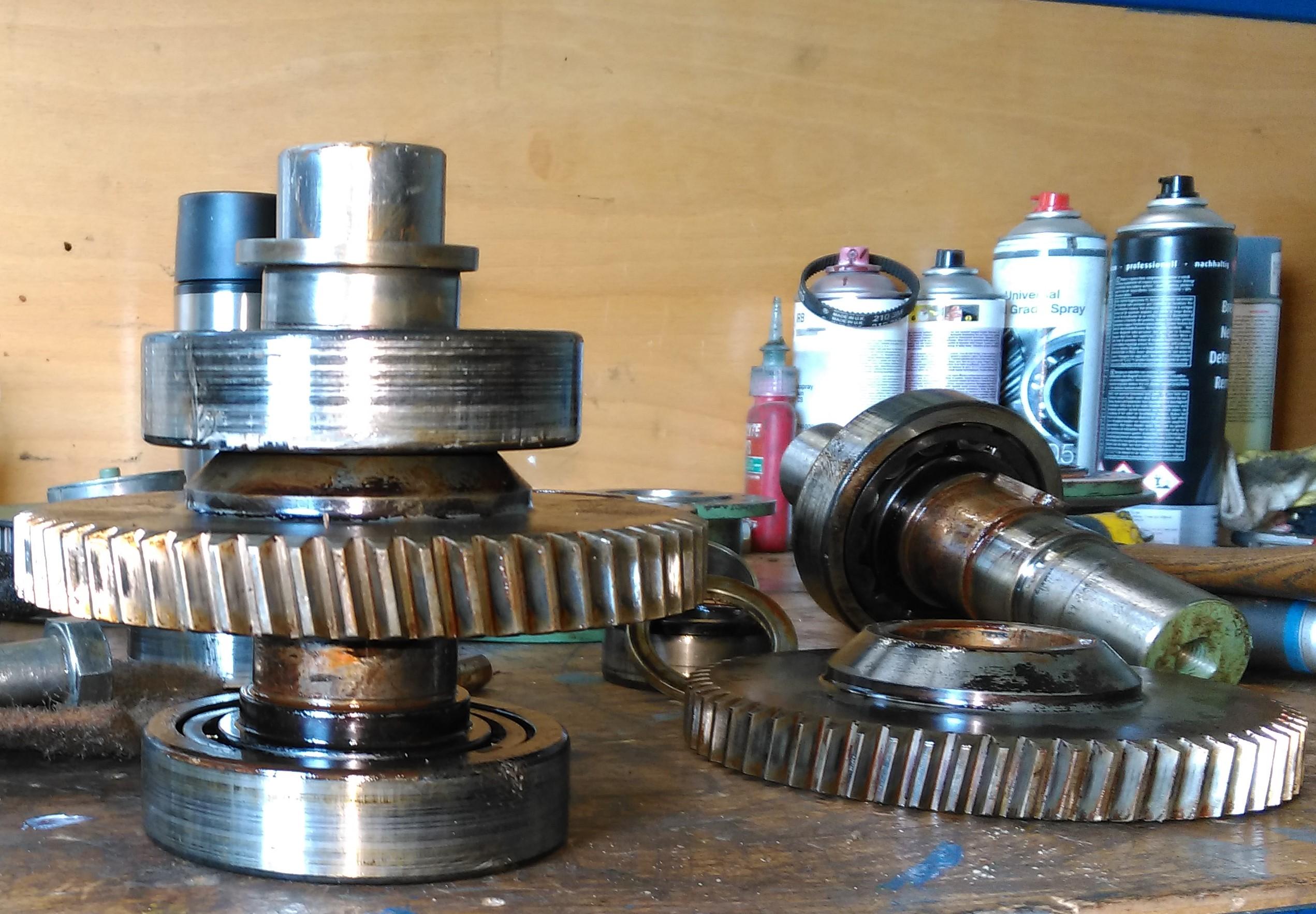 Instandhaltung von Getriben-Motoren